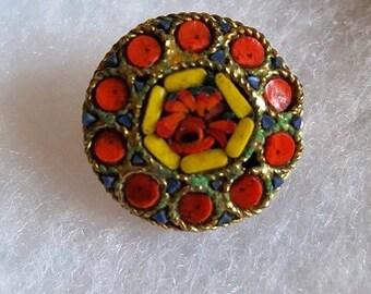 Vintage Colorful Brooch