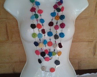 long necklace 3 in one fabric