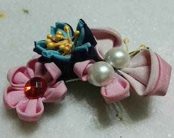 Kanzashi Butterfly&Sakura flower hair pin