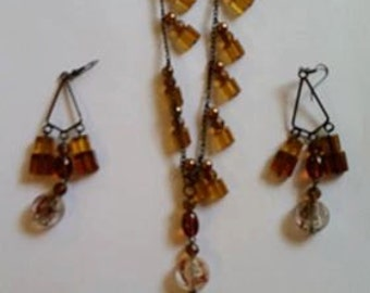 hand made   necklace  and earings