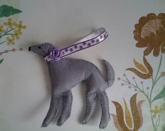 Felt Greyhound Lurcher Whippet