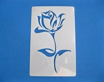 Laser Cut Reusable Washable Mylar 190 Micron Stencil Rose 145mm