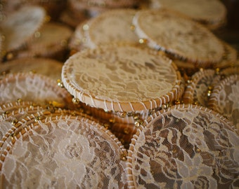 Set of 7 lace tambourines