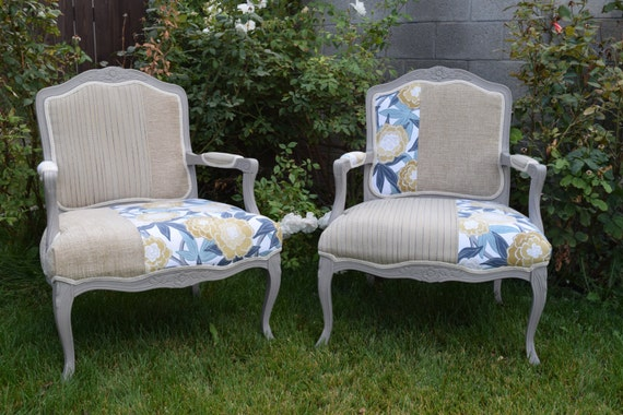 Whimsical formal living room chairs 2 by vintagefurnitureinc for Formal living room accent chairs