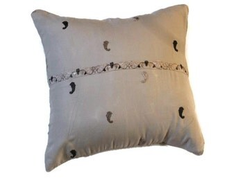 Light Brown pillow cover with classic design.