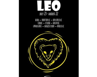 imagination and beyond Zodiac Sign Leo Paper Print