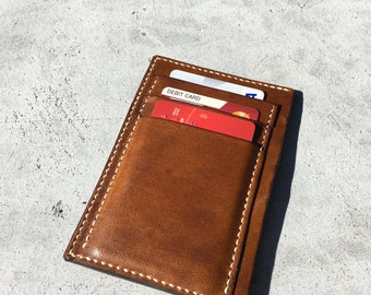 Mini leather wallet, mini wallet, leather handmade