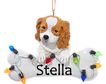 Spaniel Puppy Christmas Ornament Personalized for your Dog