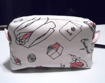 Small bridal cosmetics bag