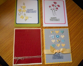 Birthday Cards - set of 4