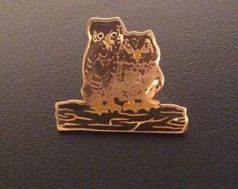 Vintage owl pin- metal vintage hat pin- metal vintage jacket pin- metal vintage backpack pin- vintage retro pins