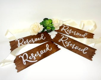 Wedding Reserved Chair Sign- Wedding Decorations- Reserved Sign - Wedding Signs- Rustic Wedding Decor- Country Wedding Decor- Boho