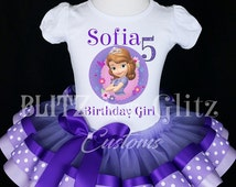 Sofia the First Birthday Outfit - Sofia the First Dress - Princess Sofia Tutu Dress - Princess Sofa Birthday Outfit - Princess Sophia Tutu