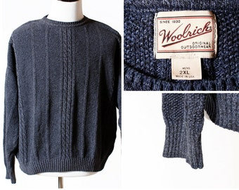 Vintage Men's Woolrich Sweater - XXL 90's Cable Extra Extra Large Wool