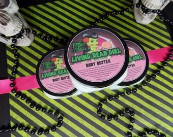Whipped Body Butter - Living Dead Girl  Body Butter - Body Butter -Gothic body butter - Coconut Lime - Lotion - 4oz