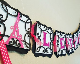 Paris Theme Name Banner