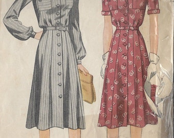 "1940s Vintage Sewing Pattern DRESS B32"" (33) Simplicity 4036"