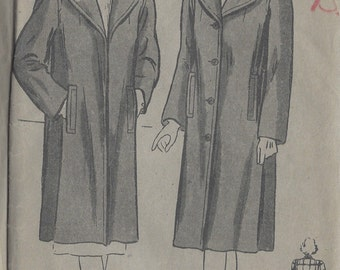 "1942 Vintage Sewing Pattern B34"" COAT (R628)  Butterick 2129"
