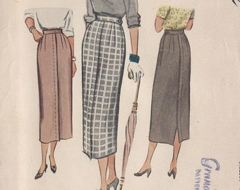 """1949 Vintage Sewing Pattern W30"""" SKIRT (R291) McCall 7809"""