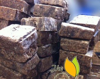 8 oz - 1/2 lb Fresh Pure Raw African Black Soap from Ghana all Natural Handmade-Free Shipping