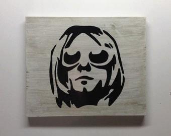 Kurt Cobain Sign Custom Rustic