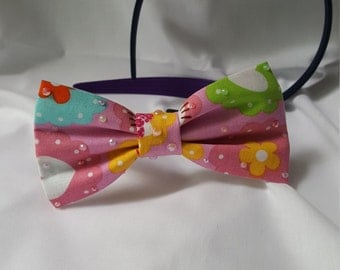 Handmade Hello Kitty Hair Bow Headband
