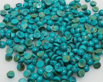 15 pieces 3mm Turquoise Cabochon Round Loose Gemstone Natural Tibetan Turquoise Wholesale Lot Cabochon Turquoise Calibrated Size Turquoise