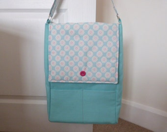 Turquoise Daisy A3 Shoulder Bag