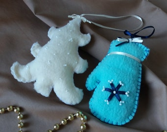 sale Mitten Christmas tree Christmas ornaments.  Christmas decoration. Christmas gift.