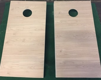 Non Painted / Unfinished Regulation Cornhole Boards Without Bags.