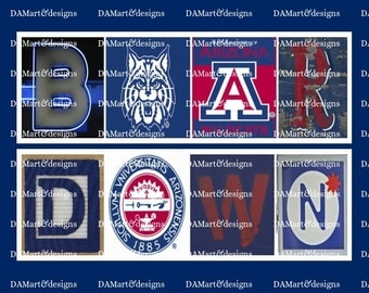 University of Arizona Wildcats Framed Alphabet Photo Art