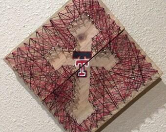 Texas Tech String Art Cross