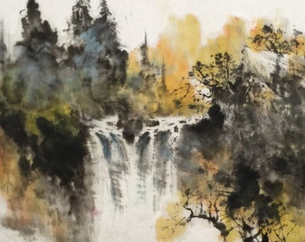 Autumn Fall - Chinese Ink Painting, Original