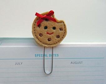 Cookie Planner Clip, felt planner clip, bookmark, planner clip, bookmark, planner accessory, organizer accessory, organizer, planner clip,