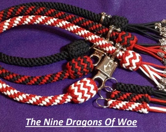 550 Paracord 9 dragons of woe bikers get back whip.