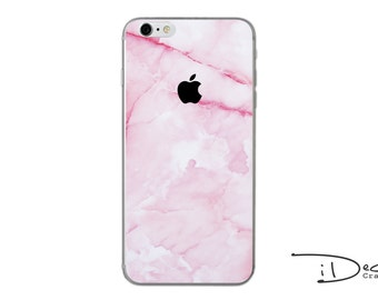 Pink Marble Decal Sticker Skin for iPhone SE, iPhone 6/6s, iPhone 6plus, iPhone 7 and iPhone 7plus