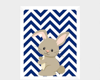 Forest Animal, Bunny, Digital Print, Printable Art, Nursery Decor, Baby Print, Instant Download, Home Decor, Nursery Wall Art, Baby Print