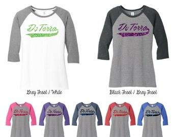Glitter DoTerra 3\4 Raglan Sleeve Shirt, DoTerra Shirt, DoTerra