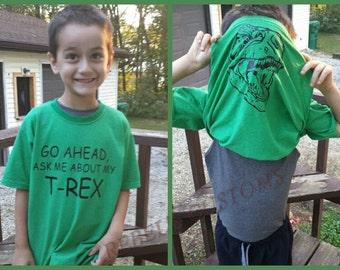 T-rex Dinosaur Flipside Shirt