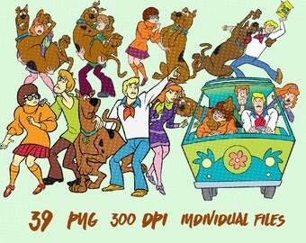 Scooby doo clipart – Etsy