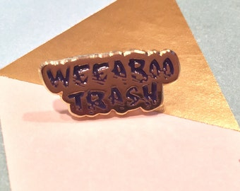 "Weeaboo Trash Pin - .75"" Tiny Soft Enamel Pin"