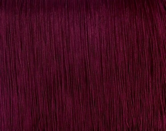 """Chainette Fringe 18""""Long 4 Different Colors Burgundy. Black And Royal Blue(Price per yard )"""