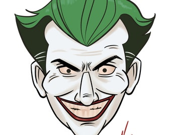 Joker - Batman The Animated Series 4x6 Print