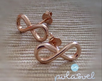 Silver925 infinity  cluster earrings,in three colors:pink golden plated,silver, golden plated.