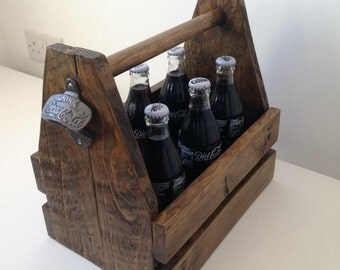Drinks caddy with bottle opener