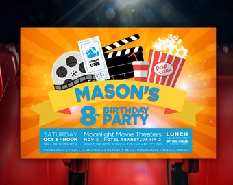 Movie Birthday Party Invite