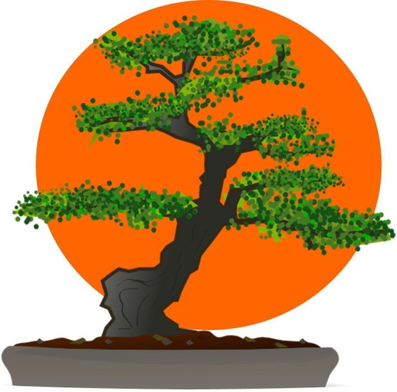 karate kid bonsai tree logo halloween or everyday iron on