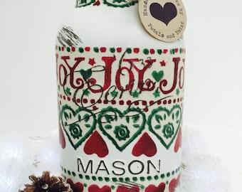 Handmade Emma Bridgewater Mason Jar Christmas Joy