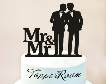 Mr And Cake Topper Gay Same Sex Wedding