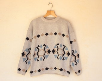 Aztec Print Jumper - Size Medium //SALE//